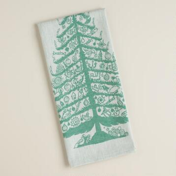 Green Tree Jacquard Kitchen Towel